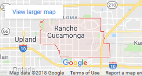 Rancho Cucamonga CA Google Map